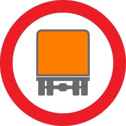 Traffic sign of United Kingdom: Vehicles with dangerous goods prohibited