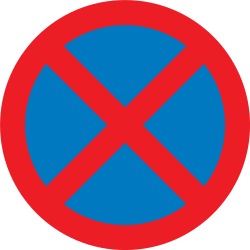 Traffic sign of United Kingdom: Parking and stopping prohibited