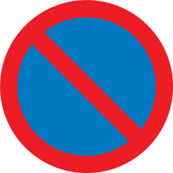 Traffic sign of United Kingdom: Parking prohibited