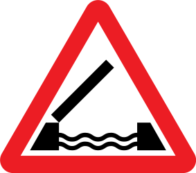 Traffic sign of United Kingdom: Warning for a movable bridge