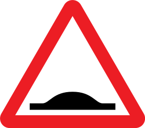 Traffic sign of United Kingdom: Warning for a speed bump