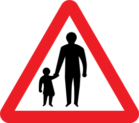 Traffic sign of United Kingdom: Warning for pedestrians