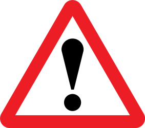 Traffic sign of United Kingdom: Warning for a danger with no specific traffic sign