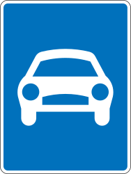 Traffic sign of Greece: Begin of an expressway