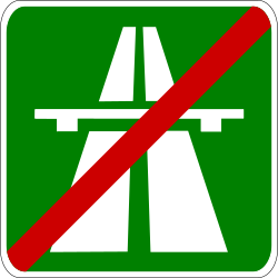 Traffic sign of Greece: End of the motorway