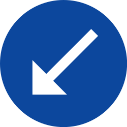 Traffic sign of Greece: Passing left mandatory