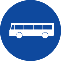 Traffic sign of Greece: Mandatory lane for buses