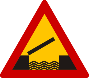 Traffic sign of Greece: Warning for a movable bridge