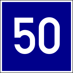 Traffic sign of Hungary: Recommended speed