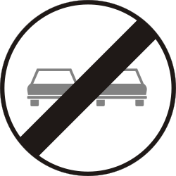 Traffic sign of Hungary: End of the overtaking prohibition