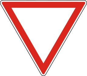Traffic sign of Hungary: Give way to all drivers