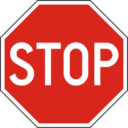 Traffic sign of Hungary: Stop and give way to all drivers