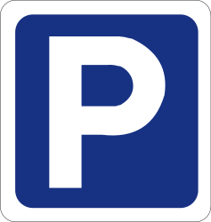 Traffic sign of Ireland: Parking is allowed