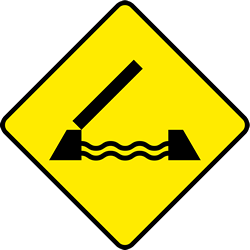 Traffic sign of Ireland: Warning for a movable bridge