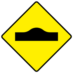 Traffic sign of Ireland: Warning for a speed bump