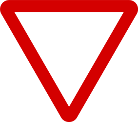 Traffic sign of Ireland: Give way to all drivers