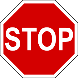 Traffic sign of Ireland: Stop and give way to all drivers