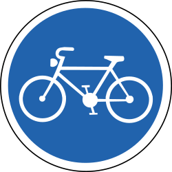 Traffic sign of Iceland: Mandatory path for cyclists