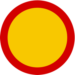 Traffic sign of Iceland: Entry prohibited