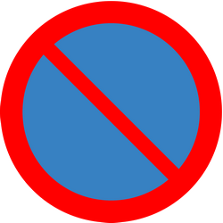 Traffic sign of Iceland: Parking prohibited