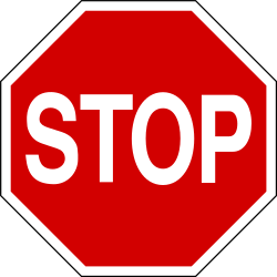 Traffic sign of Iceland: Stop and give way to all drivers