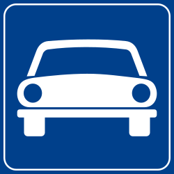 Traffic sign of Italy: Begin of an expressway