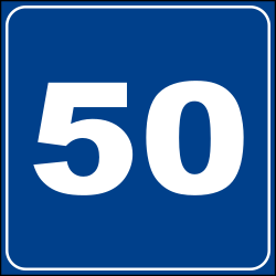 Traffic sign of Italy: Recommended speed