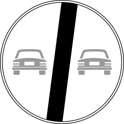 Traffic sign of Italy: End of the overtaking prohibition