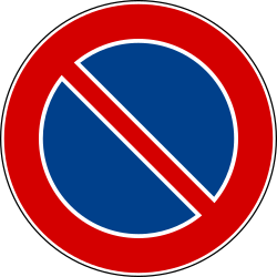 Traffic sign of Italy: Parking prohibited