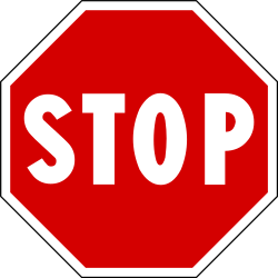 Traffic sign of Italy: Stop and give way to all drivers