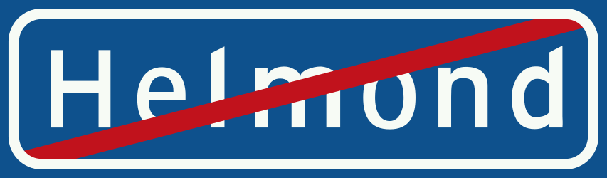 Traffic sign of Netherlands: End of the built-up area