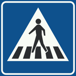 Traffic sign of Netherlands: Crossing for pedestrians