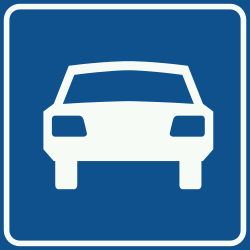 Traffic sign of Netherlands: Begin of an expressway