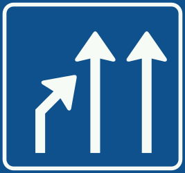 Traffic sign of Netherlands: End of a lane