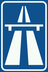 Traffic sign of Netherlands: Begin of a motorway