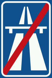 Traffic sign of Netherlands: End of the motorway