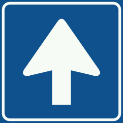 Traffic sign of Netherlands: Road with one-way traffic