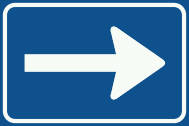 Traffic sign of Netherlands: Road with <a href='/en/netherlands/overview/one-way-traffic'>one-way traffic</a>