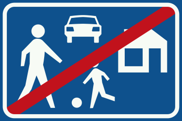 Traffic sign of Netherlands: End of the residential area