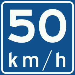 Traffic sign of Netherlands: Begin of an advisory speed limit