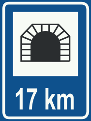 Traffic sign of Netherlands: Begin of a tunnel