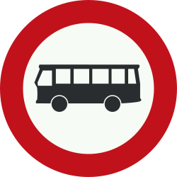 Traffic sign of Netherlands: Buses prohibited