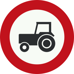 Traffic sign of Netherlands: Tractors prohibited