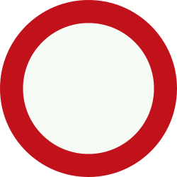 Traffic sign of Netherlands: Entry prohibited