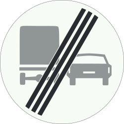 Traffic sign of Netherlands: End of the overtaking prohibition for trucks