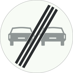 Traffic sign of Netherlands: End of the overtaking prohibition