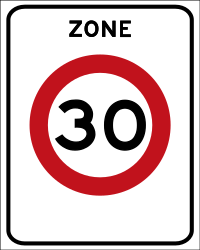 Traffic sign of Netherlands: Begin of a zone with speed limit