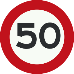 Traffic sign of Netherlands: Driving faster than indicated prohibited (speed limit)