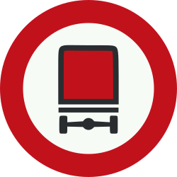 Traffic sign of Netherlands: Vehicles with dangerous goods prohibited