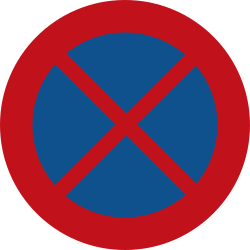 Traffic sign of Netherlands: Parking and stopping prohibited